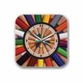 Декоративные настенные часы Pencils