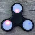 Спиннер с подсветкой LED светящийся Черный