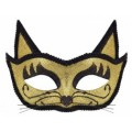 Венецианская маска Кошка (золото)