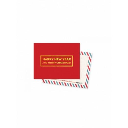 Мини открытка Happy New Year